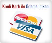 Kredi kartı ile ödeme imkanı